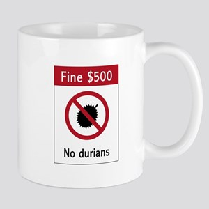 No Durians Sign, Singapore Mug
