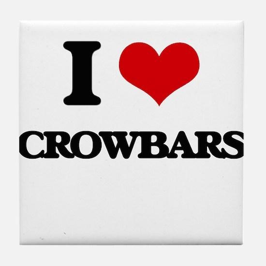 I love Crowbars Tile Coaster