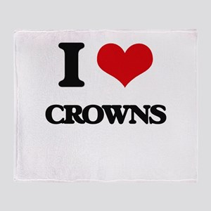I love Crowns Throw Blanket