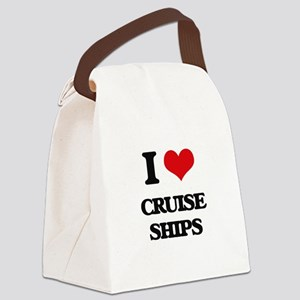 I love Cruise Ships Canvas Lunch Bag