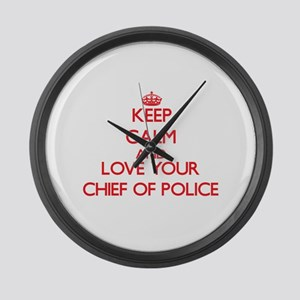 Keep Calm and love your Chief Of Large Wall Clock