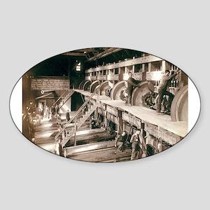 Saw Mill Interior - John Graybill - 1890 Sticker