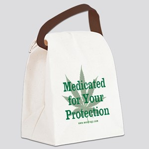 Medicated For Your Protection Canvas Lunch Bag