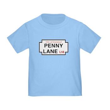 Penny Lane, Liverpool Street Sign, Toddler T-Shirt