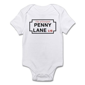 Penny Lane, Liverpool Street Sign, Infant Bodysuit