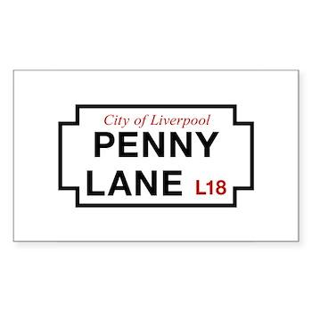 Penny Lane, Liverpool Street S Sticker (Rectangle)