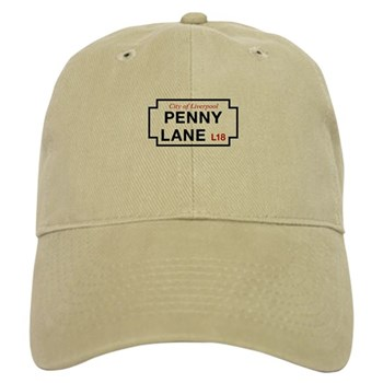 Penny Lane, Liverpool Street Sign, UK Cap