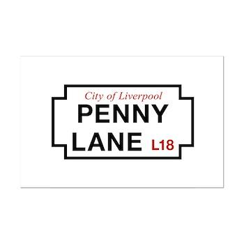 Penny Lane, Liverpool Street Sig Mini Poster Print