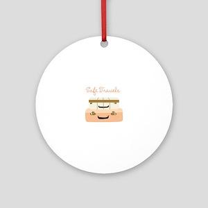 Safe Travels Ornament (Round)