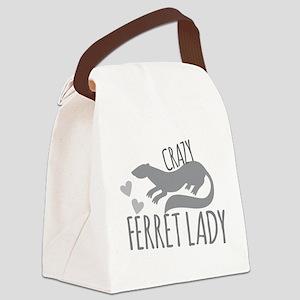 Crazy ferret lady Canvas Lunch Bag