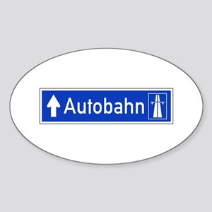 Autobahn Sign, Germany Sticker (Oval)