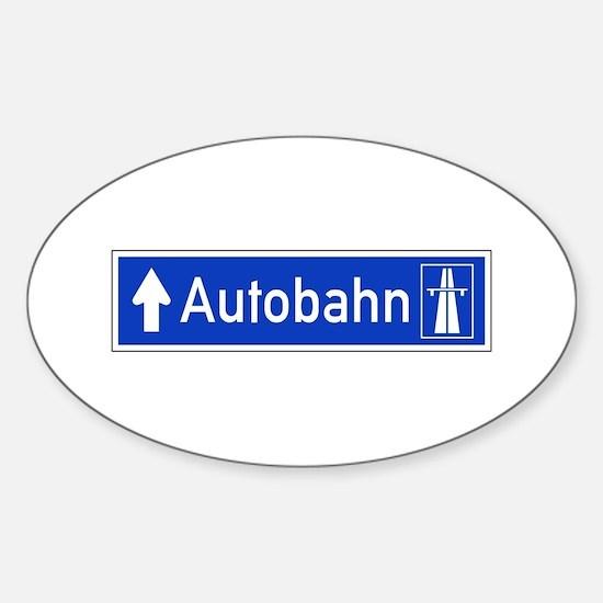 Autobahn Sign, Germany Sticker (Oval)