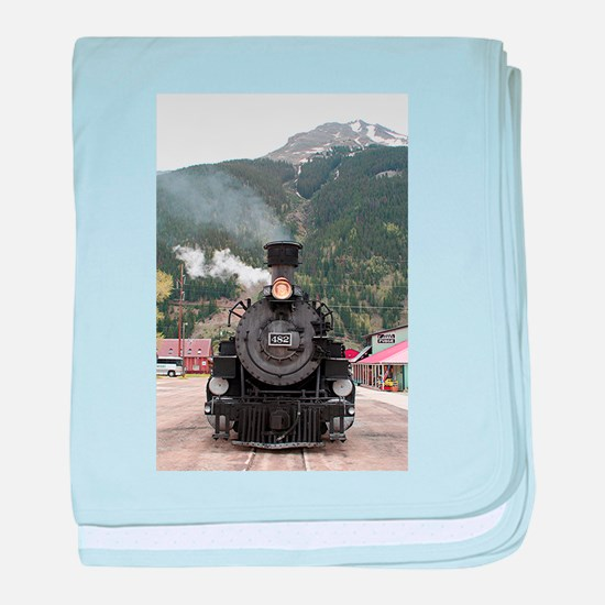 Steam train engine Colorado, USA 4 baby blanket