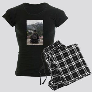 Steam train engine Colorado, Women's Dark Pajamas