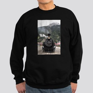 Steam train engine Colorado, USA Sweatshirt (dark)