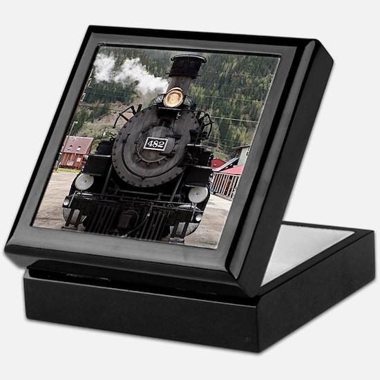 Steam train engine Colorado, USA 4 Keepsake Box