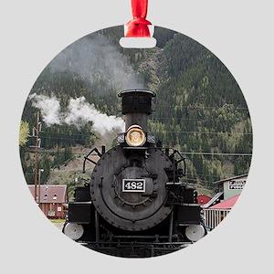 Steam train engine Colorado, USA 4 Round Ornament