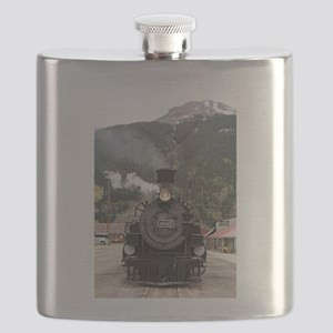 Steam train engine Colorado, USA 4 Flask