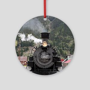 Steam train engine Colorado, USA Ornament (Round)