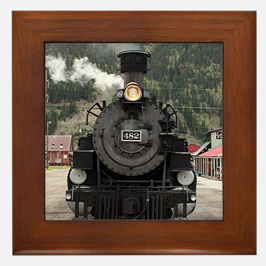 Steam train engine Colorado, USA 4 Framed Tile