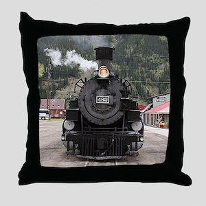 Steam train engine Colorado, USA 4 Throw Pillow