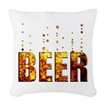 Beer Woven Throw Pillow