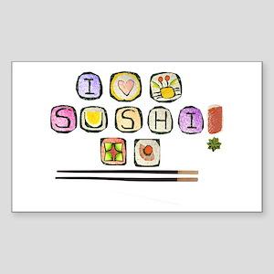 sushi Rectangle Sticker