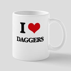 I Love Daggers Mugs