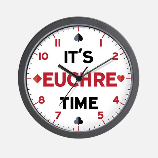 It's Euchre Time Wall Clock
