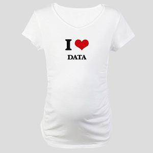 I Love Data Maternity T-Shirt