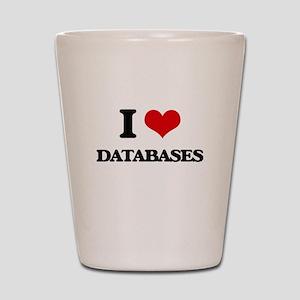 I Love Databases Shot Glass