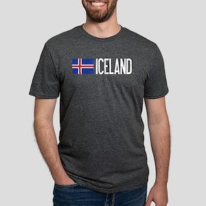 Iceland: Icelandic Flag & Ice T-Shirt