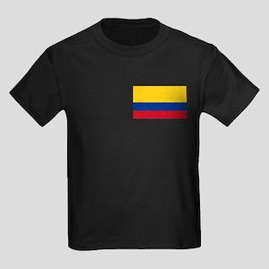 Colombia Flag Kids Dark T-Shirt
