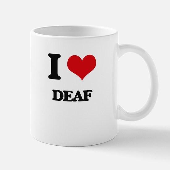 I Love Deaf Mugs