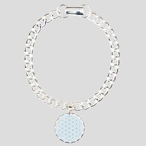 Flower Of Life Blue Charm Bracelet, One Charm