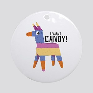 Want Candy Ornament (Round)