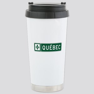 Quebec, Road Sign, Cana Stainless Steel Travel Mug