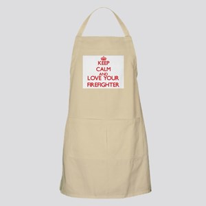 Keep Calm and love your Firefighter Apron