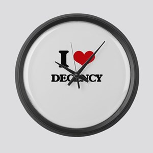 I Love Decency Large Wall Clock
