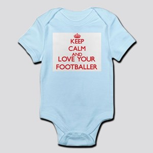 Keep Calm and love your Footballer Body Suit