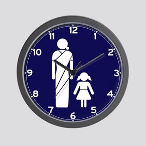 Ladies' Toilet Sign, India Wall Clock