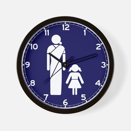 Ladies' Toilet Sign, India Wall Clock