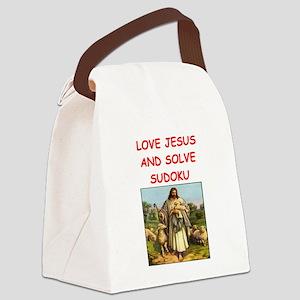 i love sudoku Canvas Lunch Bag