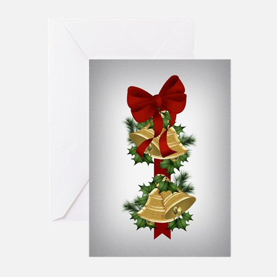 Gold Bells Christmas Cards (Pk of 10)
