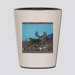 Old Cabin Window Monster buck 7 Shot Glass