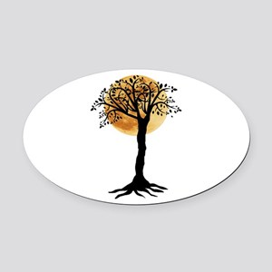MOON NIGHT Oval Car Magnet