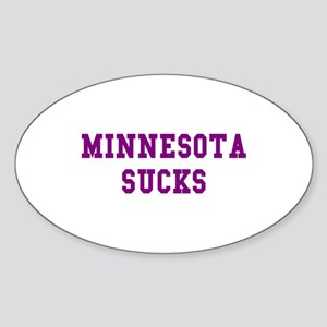 Minnesota Sucks Oval Sticker