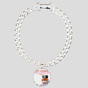 i love zip lining Bracelet