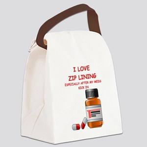 i love zip lining Canvas Lunch Bag