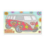 Hippie Van Glass Print Car Magnet 20 x 12